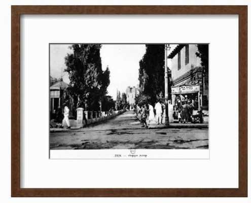 "Rothschild Boulevard, Tel Aviv, Israel, 1926-  Finished Size: 19"" x 16""  in Chelsea Espresso Frame - art.com"