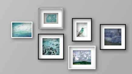 Blues in Nature Gallery Wall - Artfully Walls