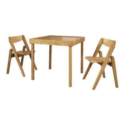 Aghacully Kids 3 Piece Square Writing Table and Chair Set - Wayfair