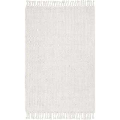 nuLOOM Casual Keren Off White 7 ft. 6 in. x 9 ft. 6 in. Area Rug - Home Depot