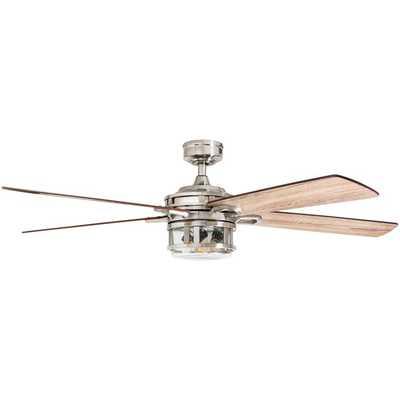 """OPEN BOX: 52"""" Rafe 5 Blades Ceiling Fan Light Kit Included - Wayfair"""