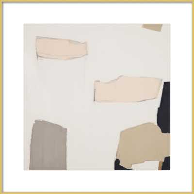 Illa Study 2 - 24x24, Frosted Gold Metal with Mat - Artfully Walls