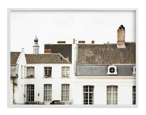 ghent  - 40x30 - white wood frame - Minted