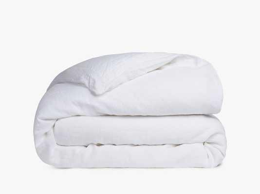 Duvet Cover Classic Linen - White, King - Loom Decor