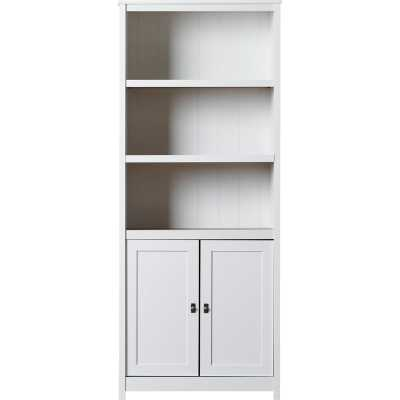 Myrasol Standard Bookcase, White - Wayfair