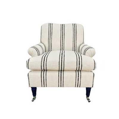 Paige Chair, Bowen Stripe - Kim Salmela