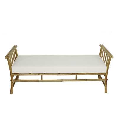 Grosvenor Bamboo Patio Daybed with Cushions - Wayfair