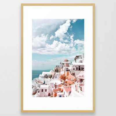 Santorini, Oia Framed Art Print - Society6