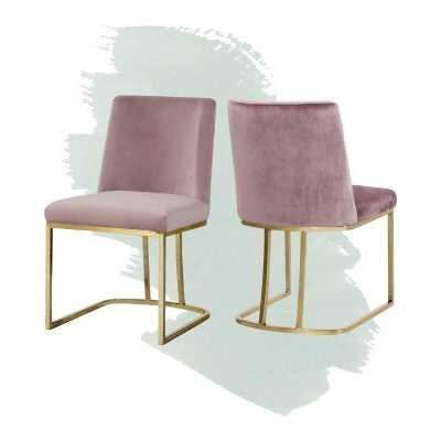 Noah Velvet Upholstered Side Chair (Set of 2) - Wayfair