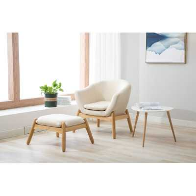 Travis Lounge Chair and Ottoman - AllModern
