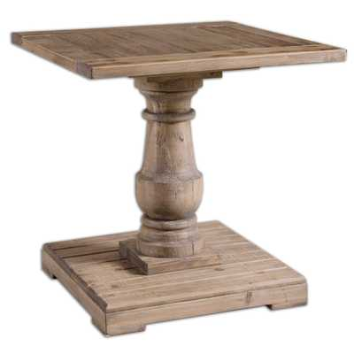 Stratford Pedestal End Table - Hudsonhill Foundry