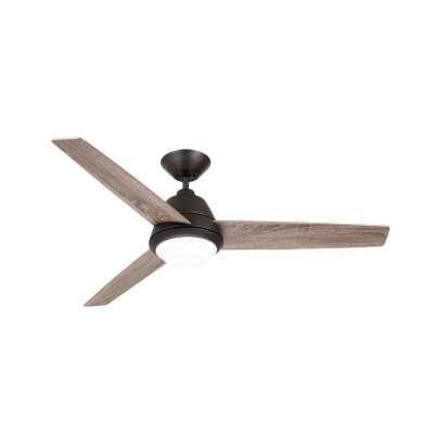 "52"" Ledyard Geode 3 Blade LED Ceiling Fan, Light Kit Included - Wayfair"