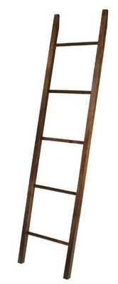 19 in. W x 1.75 in. D Natural Decorative Ladder with Solid Walnut - Home Depot