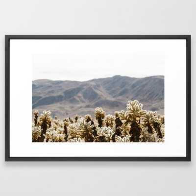 Cholla Cactus Garden Framed Art Print - Society6
