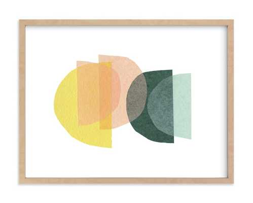 Paper Melody - Natural Raw Wood Frame - Minted