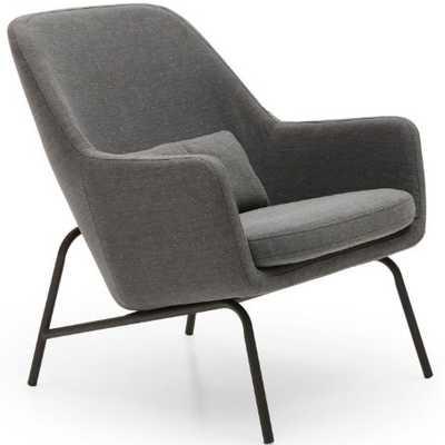 MoDRN Sandpiper Upholstered Lounge Chair - Hayneedle