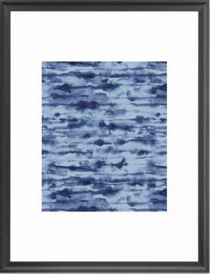 Stratus Denim Framed Art Print - Society6