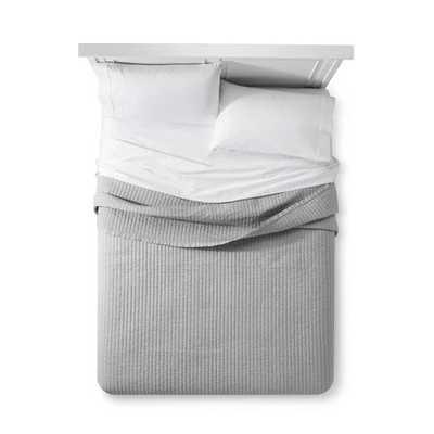 Cotton Cashmere Quilt - Fieldcrest - King- Gray - Target