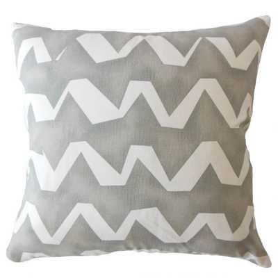 "Holden Geometric Gray Pillow Cover 20"" - Linen & Seam"
