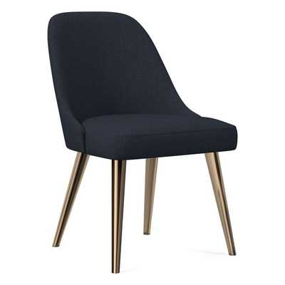 Mid-Century Upholstered Dining Chair -oil rubbed bronze legs - West Elm