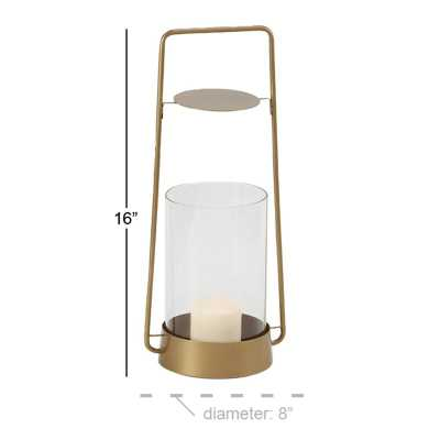 Rustic Glass and Metal Tabletop Lantern - Wayfair
