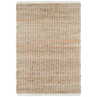 GRIDWORK IVORY WOVEN JUTE RUG - 8'x10' - Dash and Albert