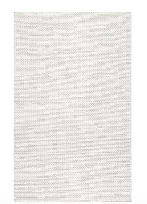Caryatid Chunky Woolen Cable Off-White 8 ft. x 10 ft. Area Rug - Home Depot