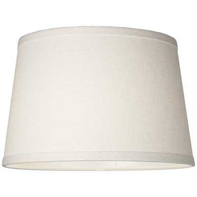 White Linen Drum Lamp Shade 10x12x8 (Spider) - Style # 35H43 - Lamps Plus