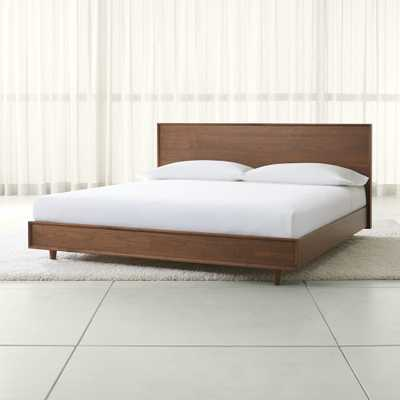 Tate King Wood Bed - Crate and Barrel