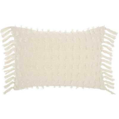 Coraline Textured Cotton Lumbar Pillow - Wayfair