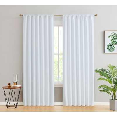 Arbas Solid Max Blackout Thermal Rod Pocket Curtain Panels (Set of 2) - Wayfair