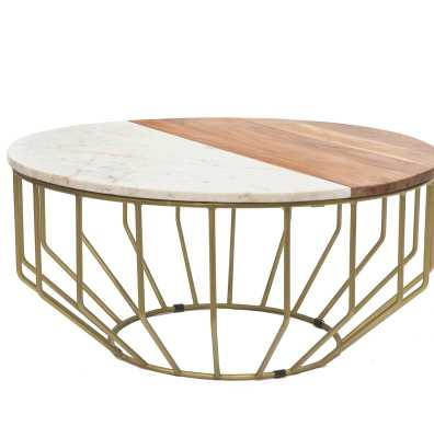 Blankenship Gold Leaf Coffee Table - Wayfair
