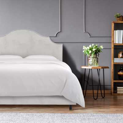Rosecrans Upholstered Standard Bed; Queen; Velvet Light Grey - AllModern
