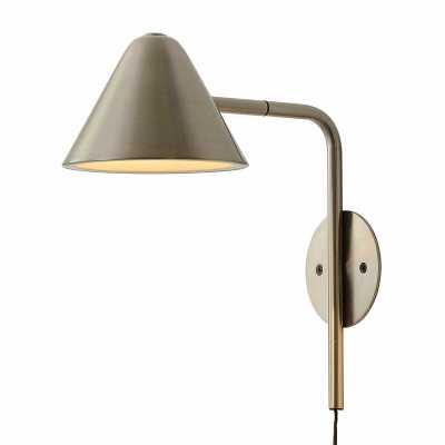 1 - Light Plug-In Brushed Brass Spotlight - Wayfair