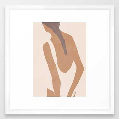 abstract minimal girl Framed Art Print - Society6