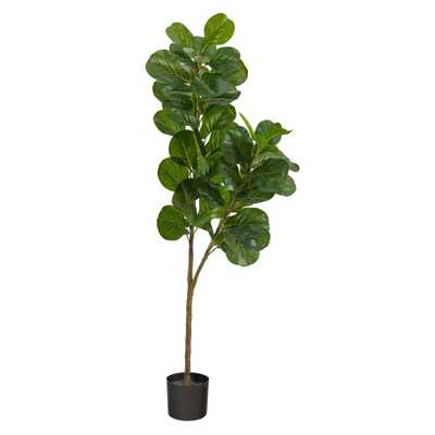 5.5' Fiddle Leaf Fig Artificial Tree - Fiddle + Bloom