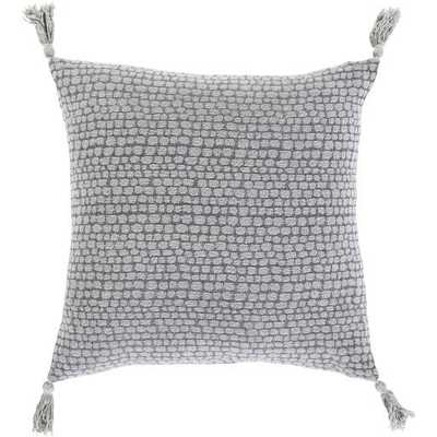 "Hadlee Dot Pillow Cover, 22""x 22"", Gray - Cove Goods"