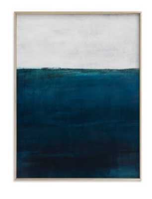 below the sea, 18x24, matte brass frame - Minted