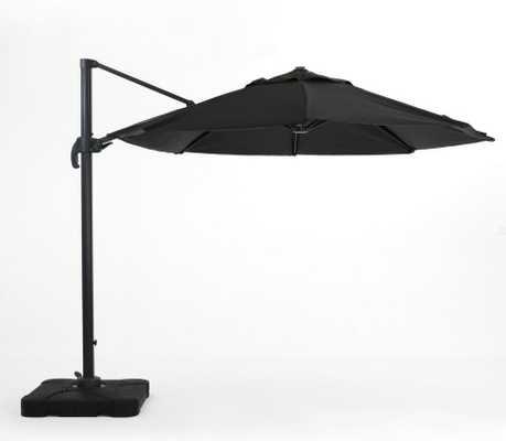 9.83 ft. Aluminum Cantilever Tilt Patio Umbrella in Black - Home Depot