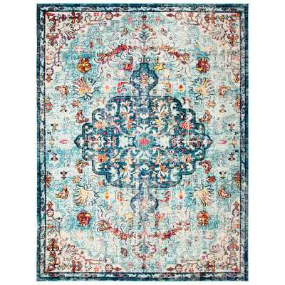Grieve Blue/Red/Beige Area Rug - Wayfair