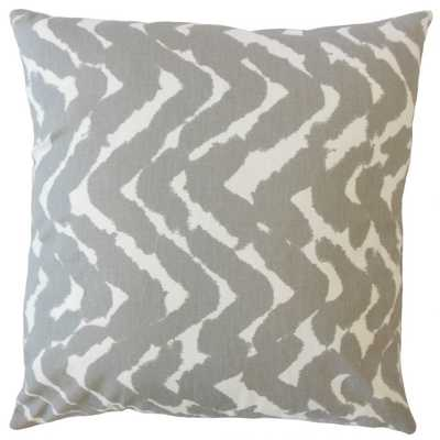 CACHAE ZIGZAG PILLOW TWILL with down insert - Linen & Seam