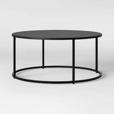 Glasgow Round Metal Coffee Table Black - Project 62™ - Target