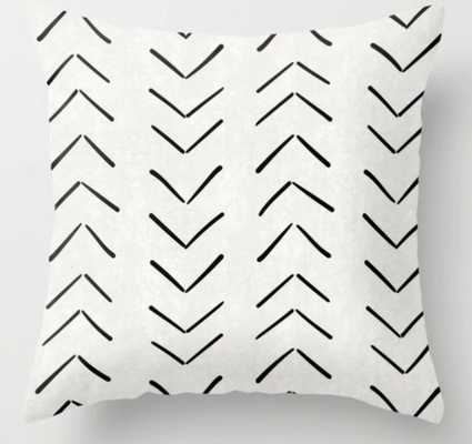 "Mud Cloth - 16"" sq -indoor cover with insert - Society6"