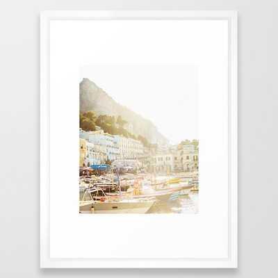 Capri Framed Art Print - Society6