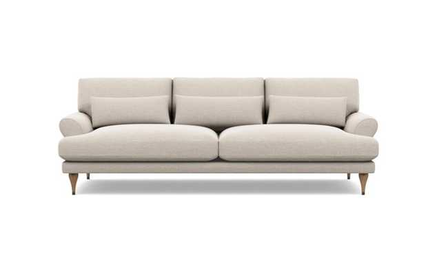 Maxwell Sofa with Linen Fabric and White Oak with Antique Cap legs - Interior Define