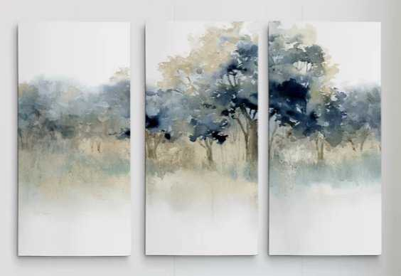 'Waters Edge II' Acrylic Painting Print Multi-Piece Image on Wrapped Canvas - Wayfair