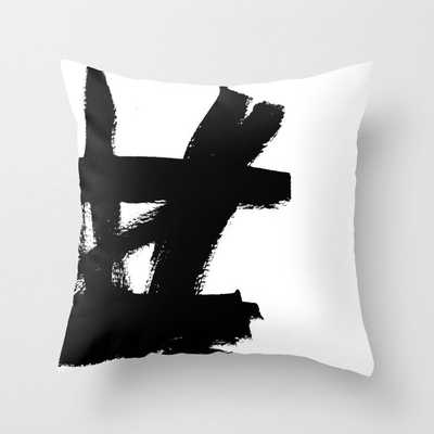 Abstract black & white 2 Throw Pillow - Indoor - 20 x 20 - Society6