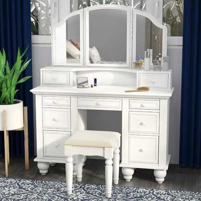 Anthonyson Transitional Vanity Set with Mirror - Wayfair
