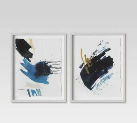 "(Set of 2) 16"" x 20"" Blue Abstract Framed Print - Project 62 - Target"