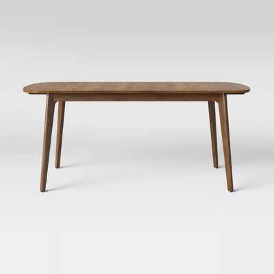 Astrid Mid Century Dining Table with Extension Leaf Brown - Project 62™ - Target
